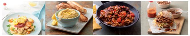 Opciones de platos que se pueden cocinar con AutoCook