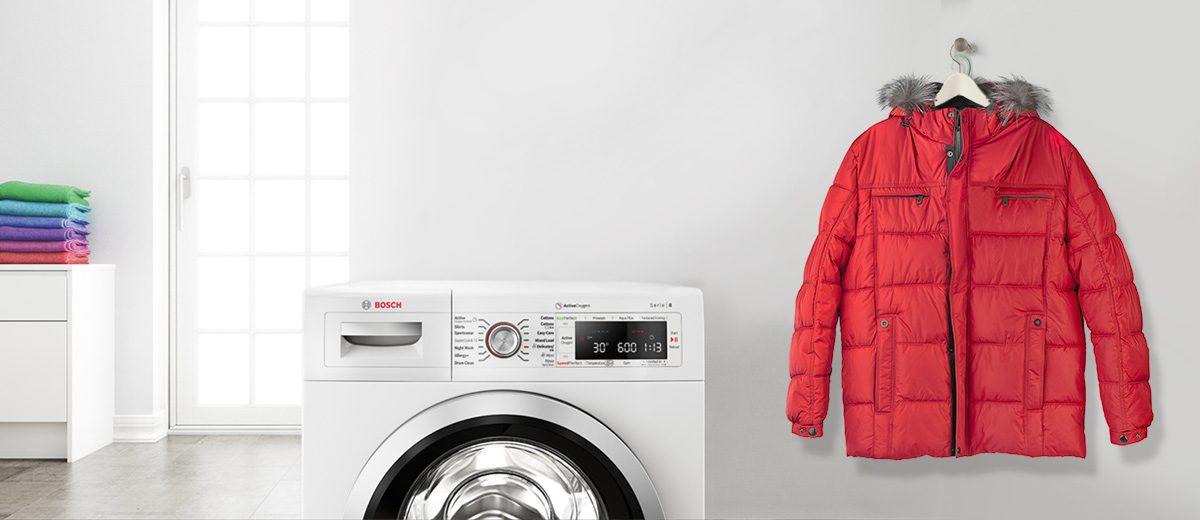 Lavar abrigo pelo sintetico en lavadora