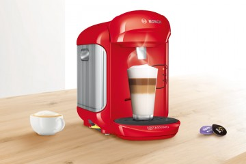 Cafetera roja Tassimo