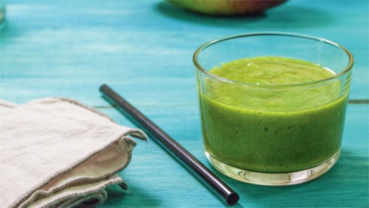 desayunar smoothie verde