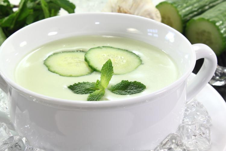 sopa pepino fría