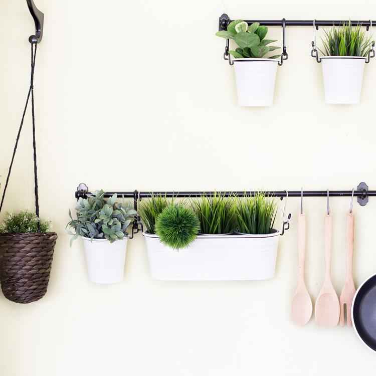 Hierbas frescas para decorar cocinas
